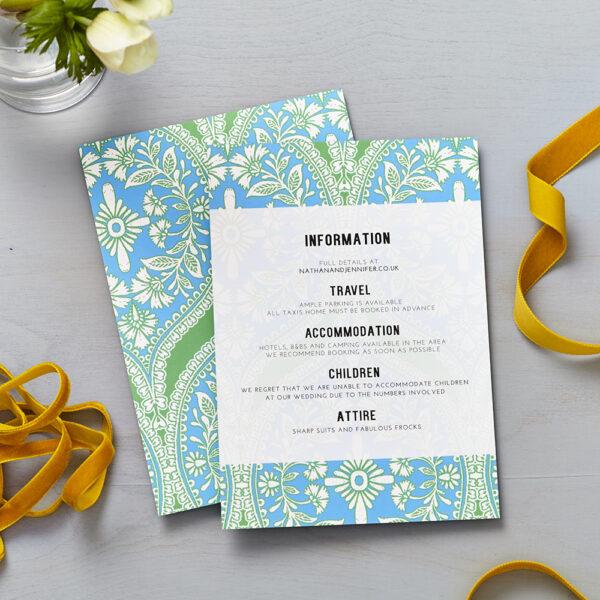 Lucy says I do Mandala wedding information cards008