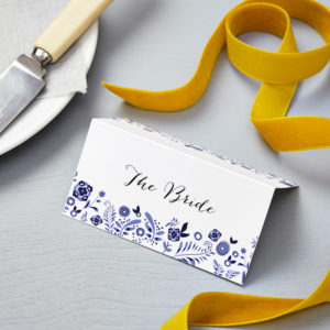 Lucy says I do danish porcelain blue wedding place card008