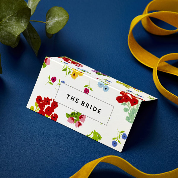 Lucy says I do ditsy wedding place card005