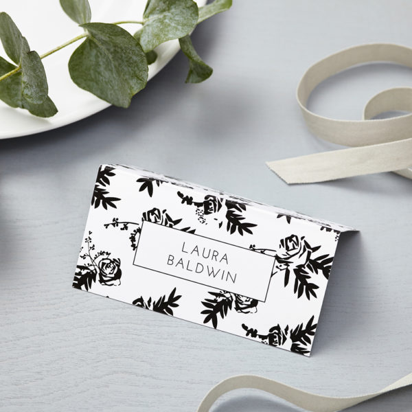 Lucy says I do flower shadows wedding place card014