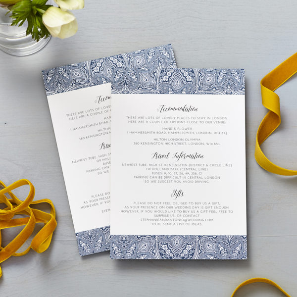 Lucy says I do indian summer indigo wedding information cards013