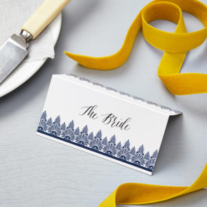 Lucy says I do indian summer indigo wedding place card010
