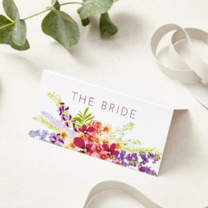 Lucy says I do secret garden wedding place card001