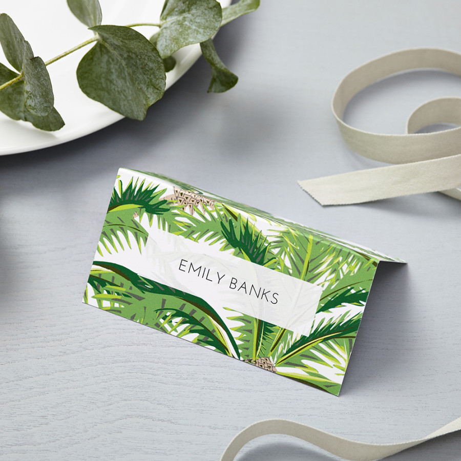 Tropical Place Cards Lucy Says I Do