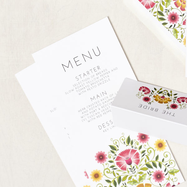 Lucy says I do wedding stationery menu001