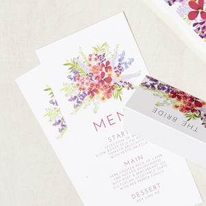 Lucy says I do wedding stationery menu002