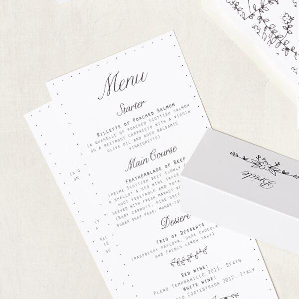 Lucy says I do wedding stationery menu005