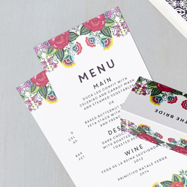 Lucy says I do wedding stationery menu011