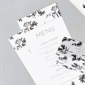 Lucy says I do wedding stationery menu012