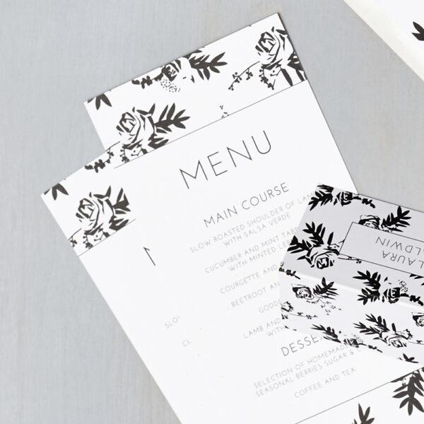 Lucy says I do wedding stationery menu012