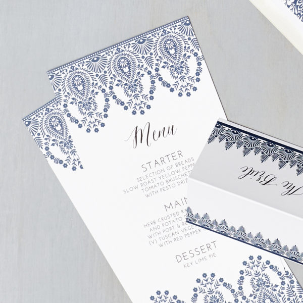 Lucy says I do wedding stationery menu020