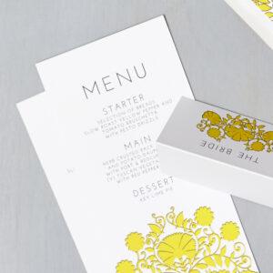 Lucy says I do wedding stationery menu