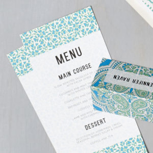 Lucy says I do wedding stationery menu024
