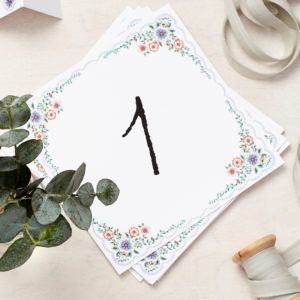 Lucy says I do english summer garden table number