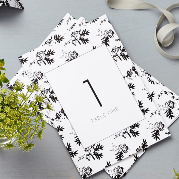 Lucy says I do flower shadows table number