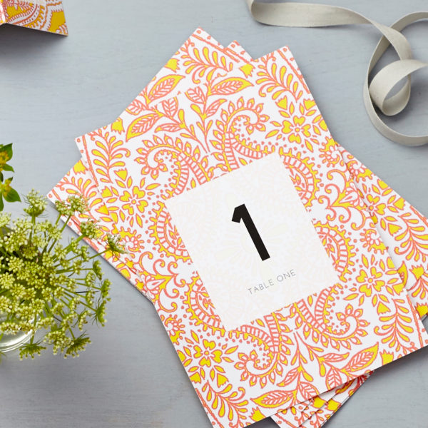 Lucy says I do mandala yellow table number