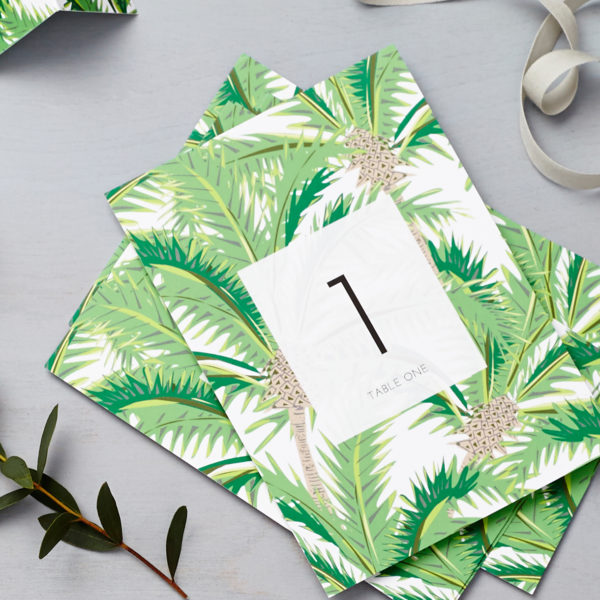 Lucy says I do tropical table number