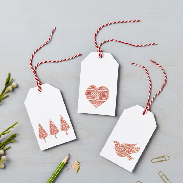Lucy says I do nordic design christmas gift tags charity