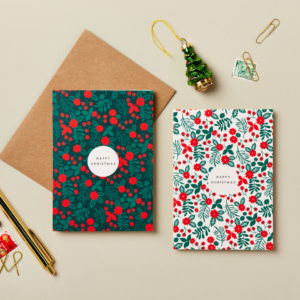 charity christmas card 6 pack festive floral design happy christmas beautiful luxury cards teenage cancer trust