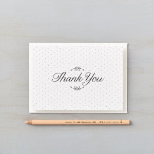 LSID greetings card daisy chain monochrome thank you card