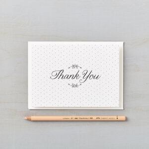 LSID greetings card daisy chain monochrome thank you card