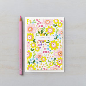 LSID greetings card ruby summer florals thank you card