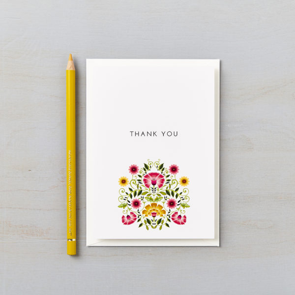 LSID greetings card signature colour floral thank you card