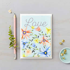 LSID greetings cards garden on blue