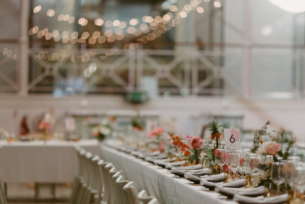 Modern geometric pink city london wedding V&A Millar Cole