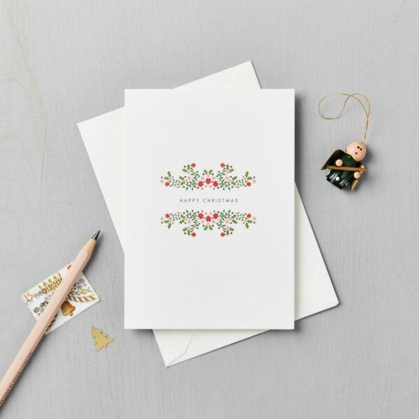 charity christmas card folksy floral lucysaysido teenage cancer trust