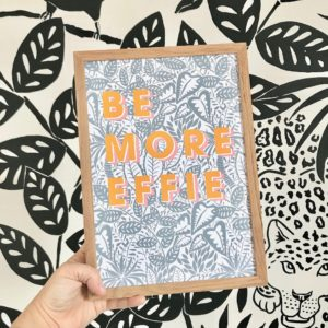 personalised Be more jungle print