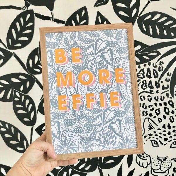 personalised Be more jungle print