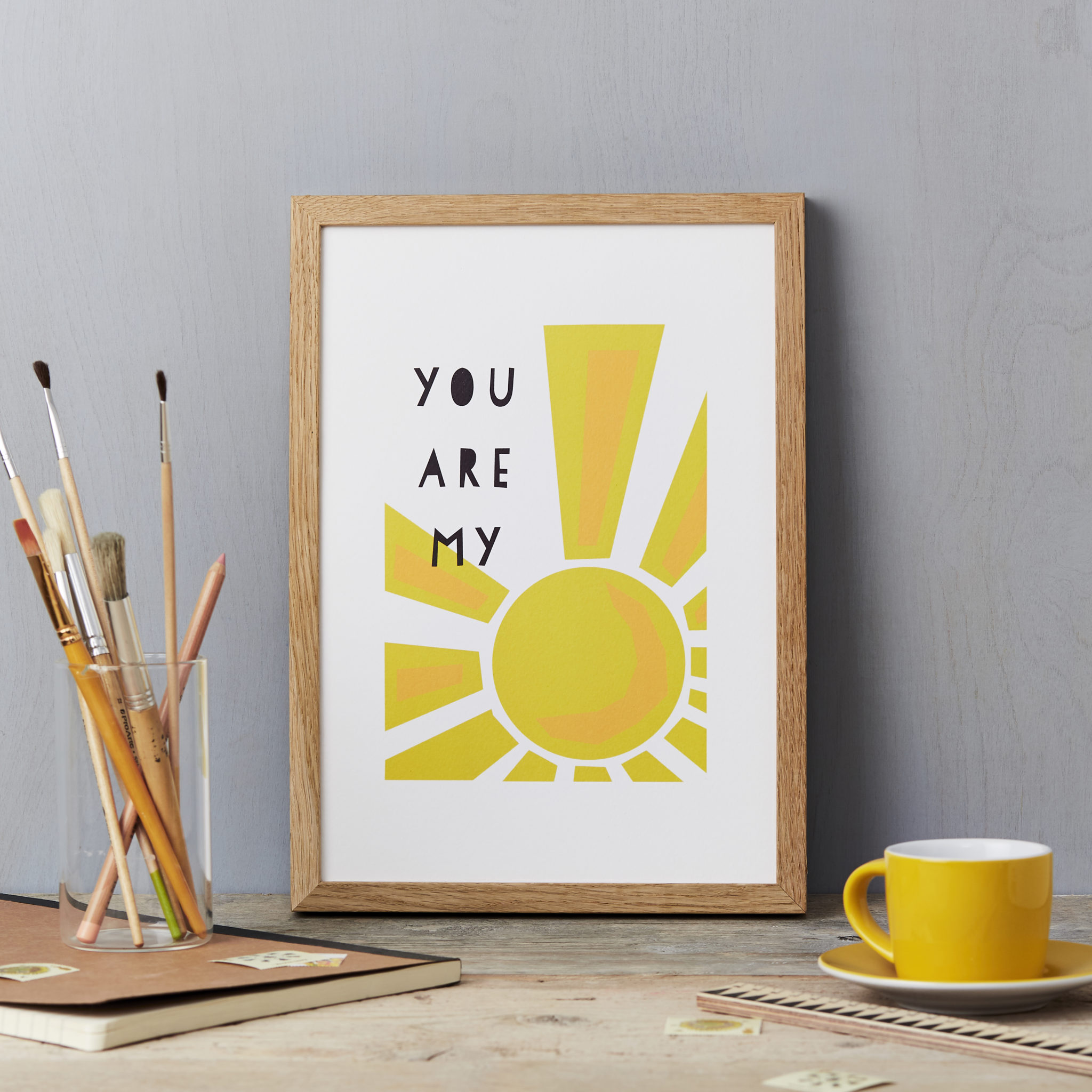You are my sunshine Print A4 childrens wall art nursery print sunshine art summer poster