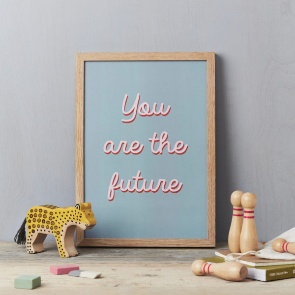 LSID-AP113 You are the future A4 PRINT - grey a