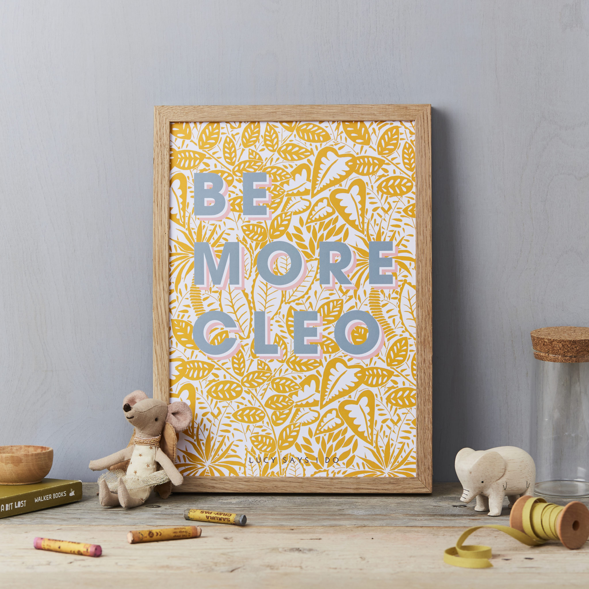LSID-AP114 Be more print-Grey on yellow