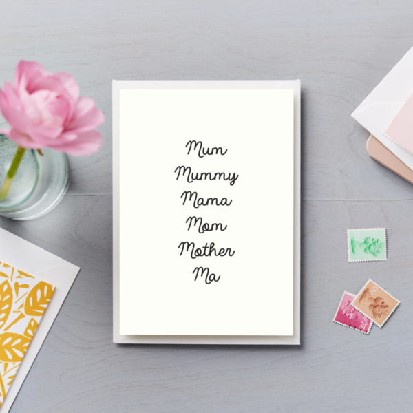 LSID-C180 Mum names mothers day card mum mummy mama mom mam mother ma