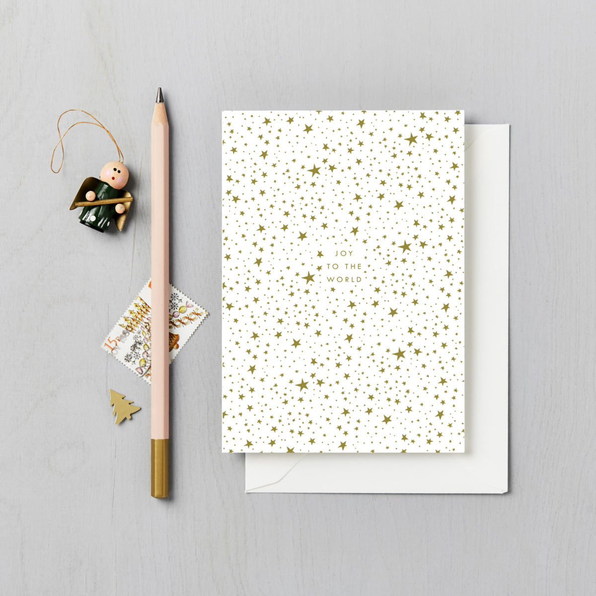 Starry Sky Charity Christmas Card 6 Pack joy to the world