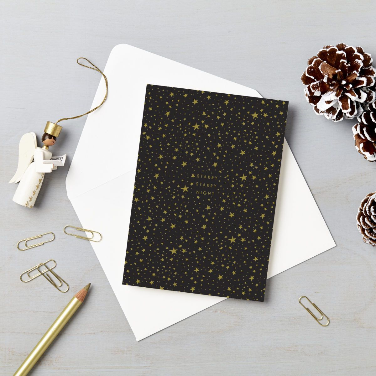 Starry Sky Charity Christmas Card 6 Pack starry starry night