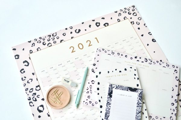 Leopard print to do list jotter A4 week planner A5 animal print day planner and 2021 year planner