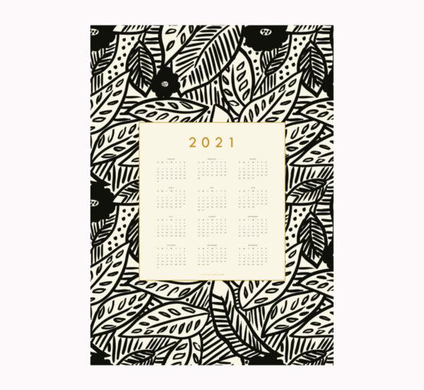 2021 calendar botanical