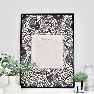 tropical decorative wall calendar 50x70