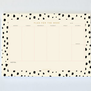 A4 weekly planner_DALMATIAN