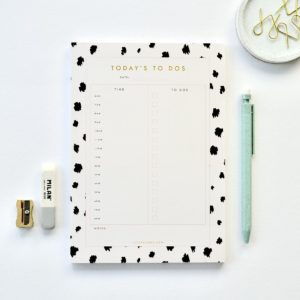 A5 day planner animal print