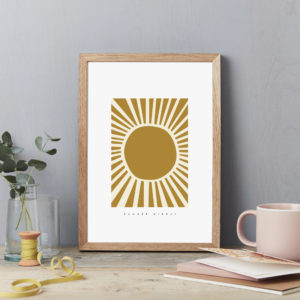 Summer sunshine wall decor poster