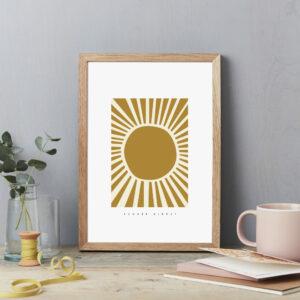 Summer sunshine wall decor poster