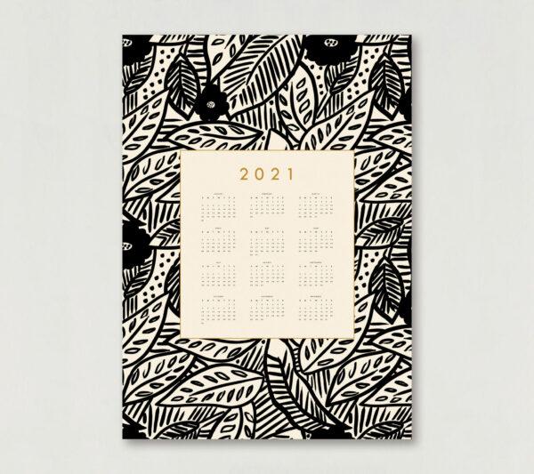 tropical decorative wall calendar 50x70