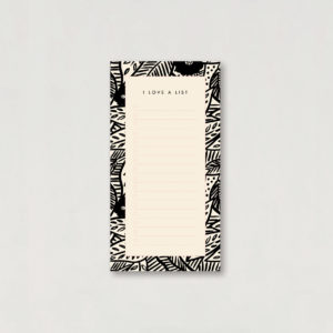 tropical leaf and flower print to do list jotter notepad