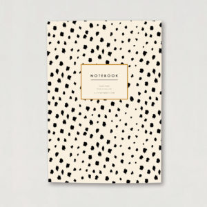 Dalmatian print A5 lined luxury notebook journal animal print