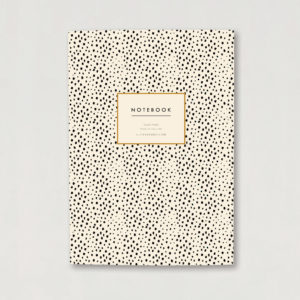 mini Dalmatian print A5 lined luxury notebook journal animal print