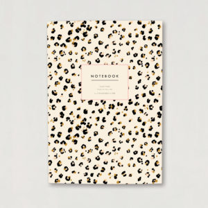 cheetah leopard animal print A5 luxury notebook journal
